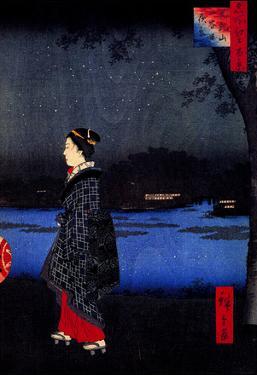 Utagawa Hiroshige Night View of Matsuchiyama