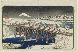 Nihonbashi Bridge in Snow, 1839-1842 by Utagawa Hiroshige