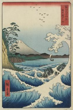 Ocean Off Satta, April 1858 by Utagawa Hiroshige