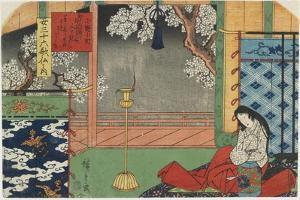 Onono Komachi, 1843-1847 by Utagawa Hiroshige