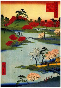 Utagawa Hiroshige Open Garden at Fukagawa