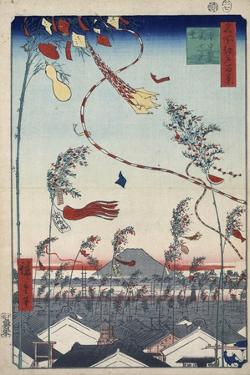Prosperity Throughout the City During the Tanabata Festival, 1856-1858 by Utagawa Hiroshige