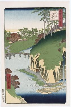 River of Waterfalls, Oji', from the Series 'One Hundred Views of Famous Places in Edo' by Utagawa Hiroshige