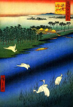 Utagawa Hiroshige Sakasai Ferry