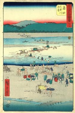 Shimada by Utagawa Hiroshige