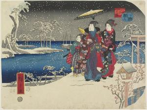 Snow at Akashi, January 1854 by Utagawa Hiroshige