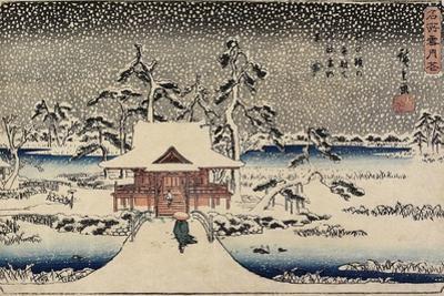 Snow at Benzaiten Shrine in the Pond of Inokashira, 1843-1847 by Utagawa Hiroshige