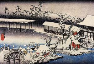 Utagawa Hiroshige Snow at the Field of Kameido Tenman Shrine