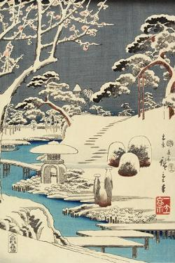 Snow Covered Garden, December 1854 by Utagawa Hiroshige