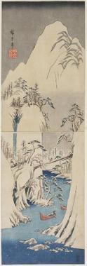 Snow Scene by the Fuji River, C. 1842 by Utagawa Hiroshige