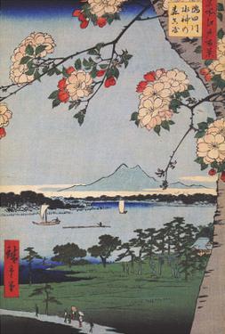 Suigin Grove & Masaki on the Sumida River by Utagawa Hiroshige