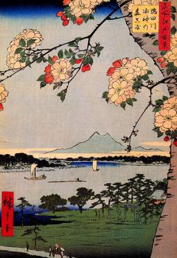 Utagawa Hiroshige Suijin Shrine and Massaki on Sumida River
