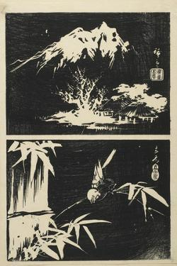 Two Images of Lithograph, Mid 19th Century by Utagawa Hiroshige