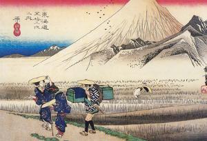 Utagawa Hiroshige View of Mount Fuji from Harajuku
