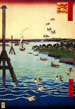 Utagawa Hiroshige View of Shiba Coast