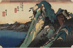 View of the Lake, Hakone, C. 1833 by Utagawa Hiroshige
