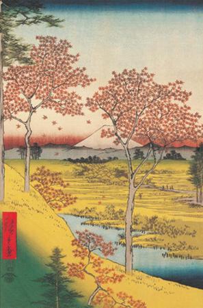 View of the Sunset at Megro, Edo by Utagawa Hiroshige