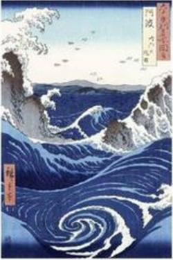 Whirlpool And Waves At Naruto by Utagawa Hiroshige