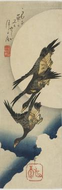 Wild Geese across the Moon, 1834-1839 by Utagawa Hiroshige