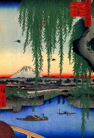 Utagawa Hiroshige Yatsumi Bridge