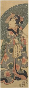 Girl Holding a Copybook, January 1843 by Utagawa Kunisada