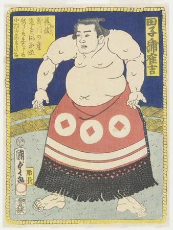 Wrestler Tagonoura Tsurukichi, March 1866