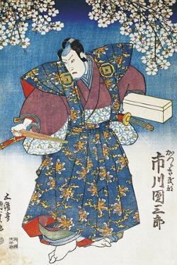 The Actor Ichikawa Dan Saburo Playing the Samurai Minbu Katsuragi, 1839 by Utagawa Kunisada