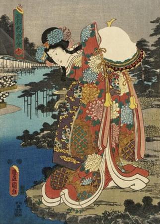Costumes in Five Different Colors - Red (Aka) by Utagawa Kunisada (Toyokuni III)