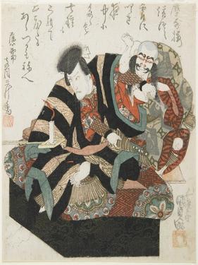 Two Actors from a Kabuki Play, Mid 19th Century by Utagawa Kunisada