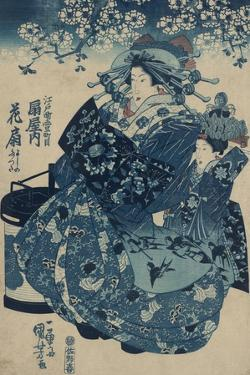 The Courtesan Hanao of Ogi-Ya by Utagawa Kuniyoishi