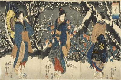 Plum Blossoms in the Evening Snow, 1847-1852