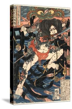 Rori Hakucho Chojun by Utagawa Kuniyoshi