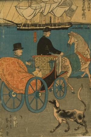 Americans Enjoying Sunday in Yokohama, 1861