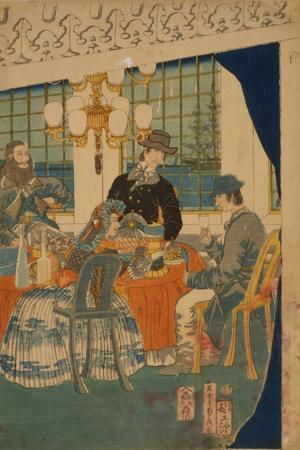 Parlour of a Foreign Mercantile House in Yokohama, 1861