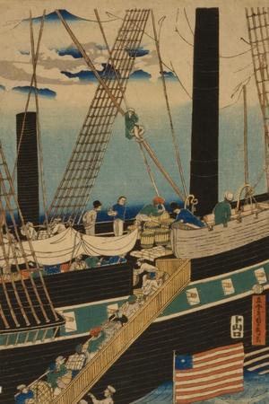 Western Traders Loading Cargo in Yokohama, 1861