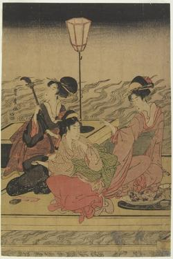 June (Summer Party on the Kamo River), Early 1800s by Utagawa Toyohiro