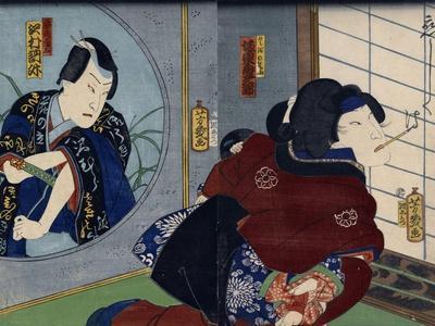A Scene from the Play 'Kuzunoha', 1865