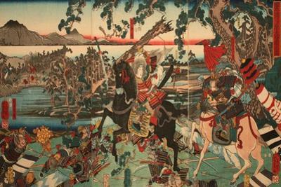 Tomoe Gozen at the Battle of Awazu by Utagawa Yoshikazu