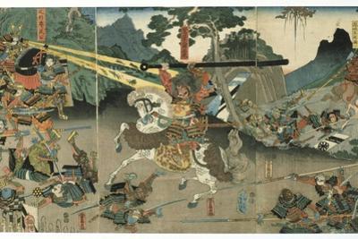 Battle, from the Series '47 Faithful Samurai, 1850-1880 by Utagawa Yoshitora