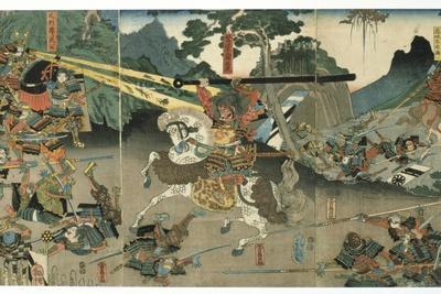 Battle, from the Series '47 Faithful Samurai, 1850-1880