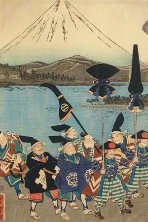The Daimyo's Entourage before Mount Fuji, 1858