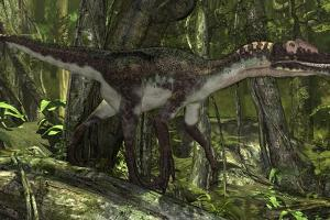 Utahraptor in a Prehistoric Forest