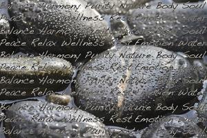 Black Stones in the Water, Writing, Zen, Spa by Uwe Merkel