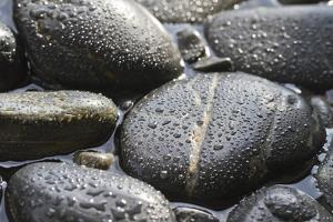Black Stones in the Water, Zen, Spa by Uwe Merkel