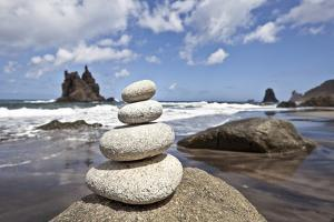 Tower of Stones at Playa De Benijo, Tenerife by Uwe Merkel