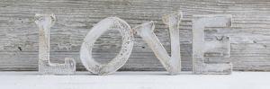 Wooden Letters 'Love' by Uwe Merkel