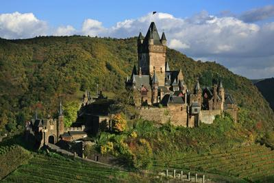 Autumn Day at the Imperial Castle Near Cochem on the Moselle