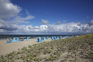 Beach Chairs on the Beach of the Baltic Sea by Uwe Steffens