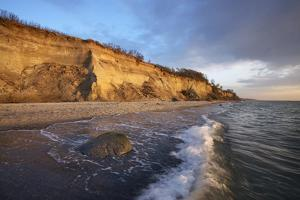 Cliff 'Hohes Ufer' Close Ahrenshoop in the Evening Light by Uwe Steffens