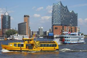 Elbfahre Ferry and Harbour Cruise in Front of the Elbe Philharmonic Hall by Uwe Steffens